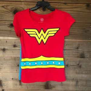 DC Comics Original Wonder Woman Caped Tee Lg